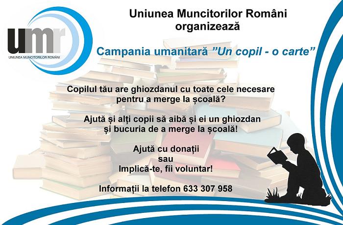 uniunea-muncitorilor-romani-organizeaza-campania-umanitara-un-copil-o-carte
